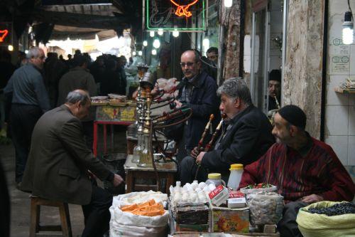 Locals in the bazaar of Tabriz