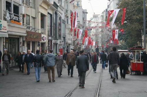 Pedestrianised Istiklal Caddesi, Istanbul