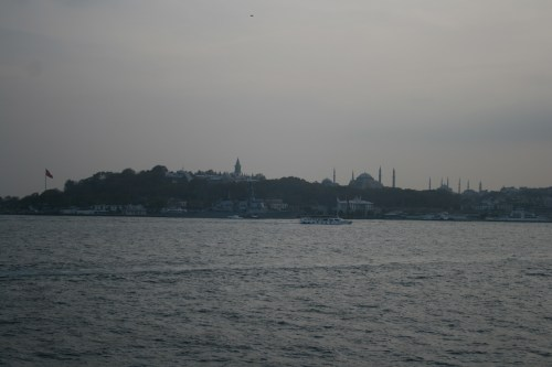 Looking back to Sultanahmet from the Bosphorus
