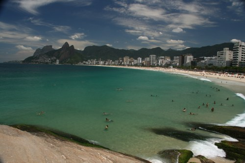 Views from Arpoador over Ipanema beach