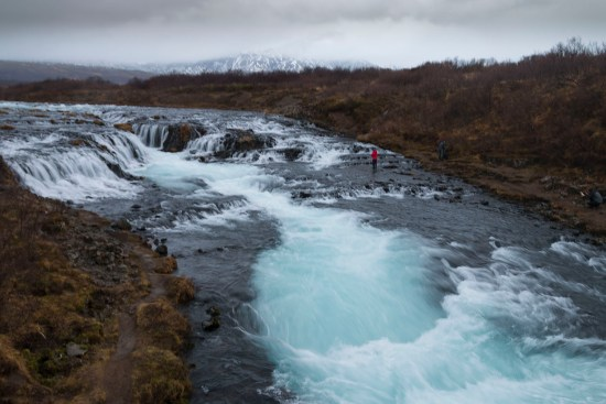 The surreal blue of Bruarfoss