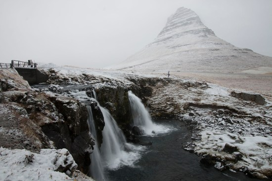 Transformed with a dusting of snow, beautiful Kirkjufelssfoss