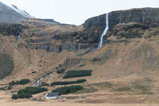 A rather impressive random waterfall on the Snaefellsnes peninsula