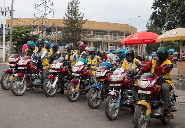 Motos - the best way to travel around the towns and cities of Rwanda