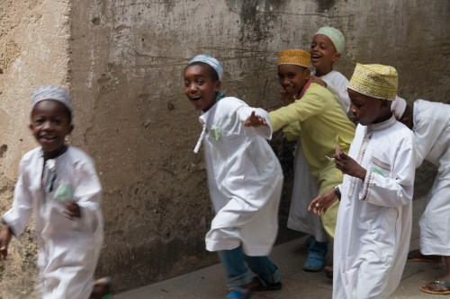 Exuberant Stone Town children