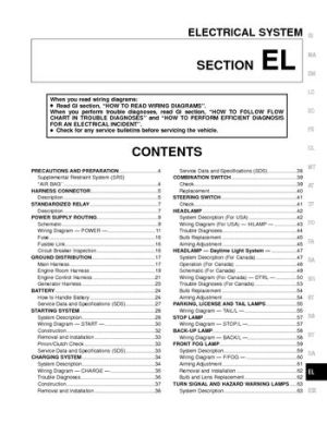 2000 Nissan Frontier  Electrical System (Section EL