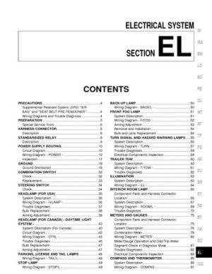 2002 Nissan Xterra  Electrical System (Section EL)  PDF
