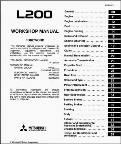 L200 Wiring Diagram Manual Smart Wiring Diagrams