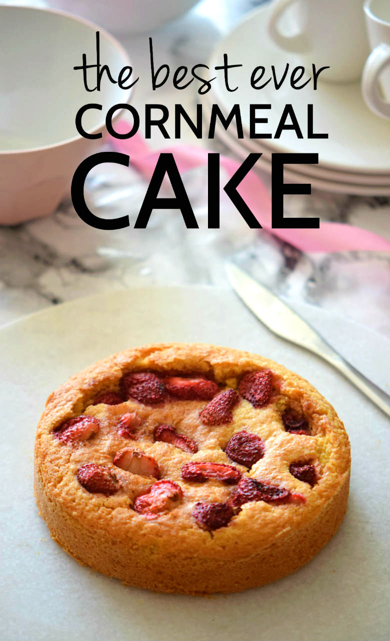 A super easy lemon cornmeal cake recipe! Seriously we can't stop making this lemon cornmeal cake around here for brunch! SO DELICIOUS!! | carmelapop.com