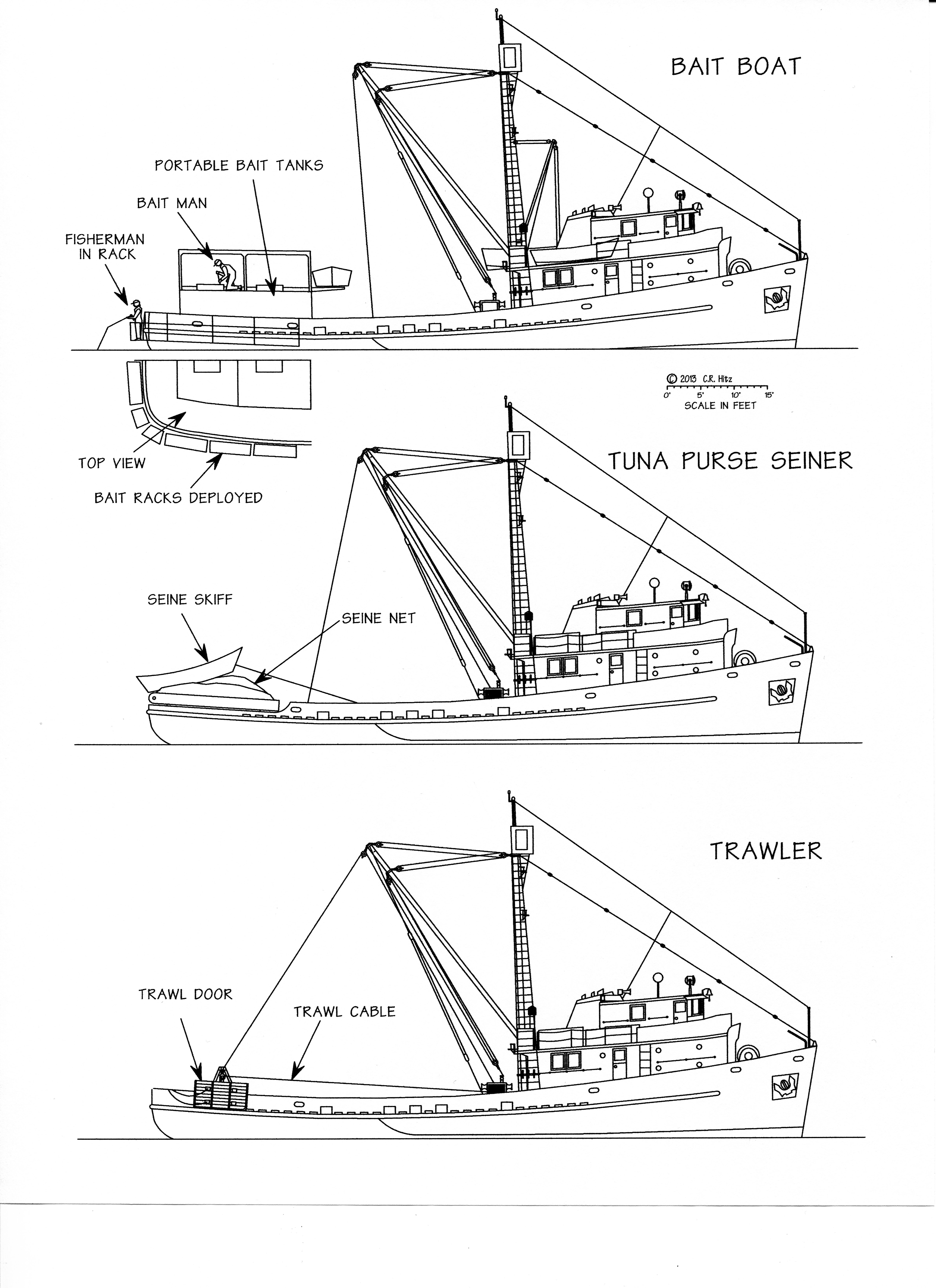 The Pacific Explorer And Its Four Fishing Vessels