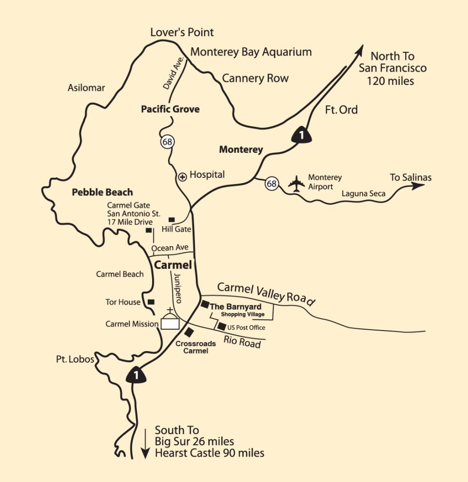 Monterey Peninsula Map
