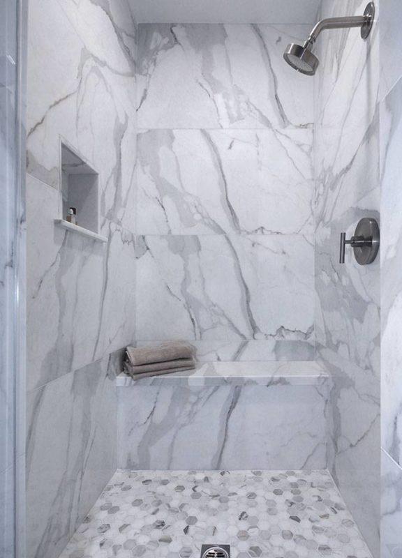calacatta marble shower carmel stone
