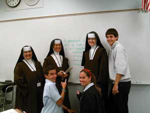 Carmelite Sisters and Students