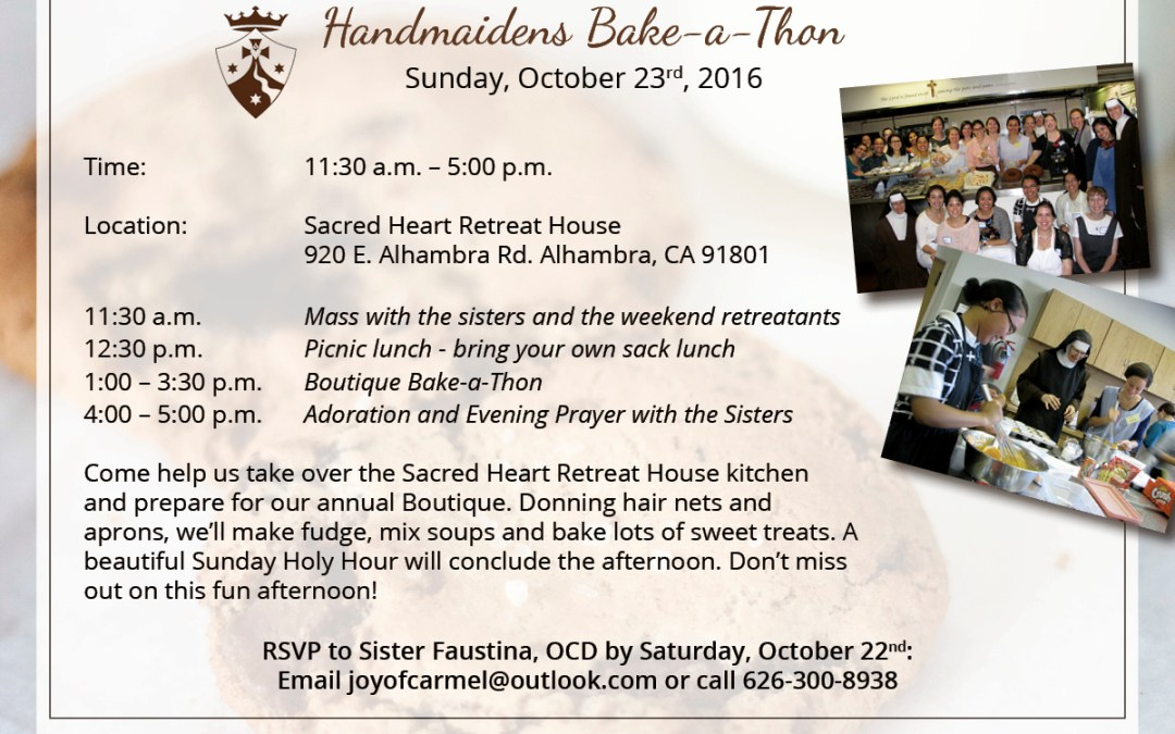 October 23rd, 2016 | Handmaidens Bake-a-thon