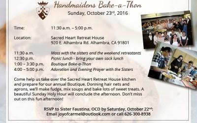 October 23rd, 2016 | Handmaidens Bake-a-thon