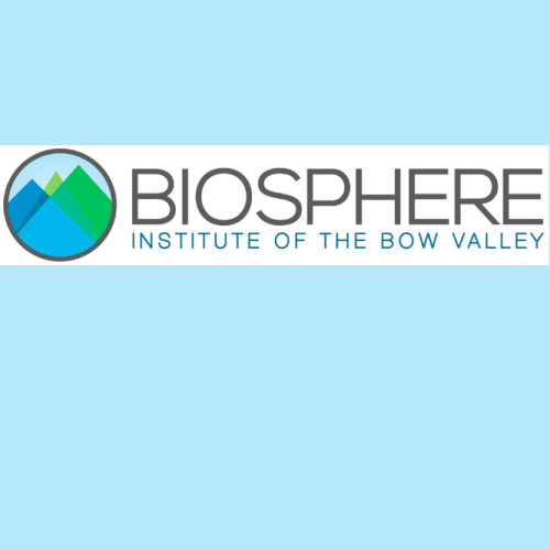 logo for biosphere institute of the bow valley
