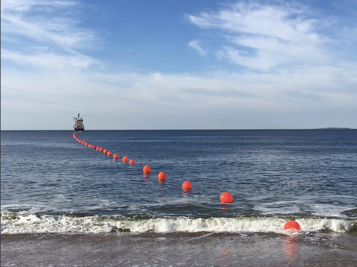 Se inaugura el primer cable submarino uruguayo que une a las Américas