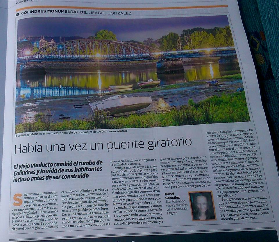 Nota en periódico español sobre el Puente Giratorio.