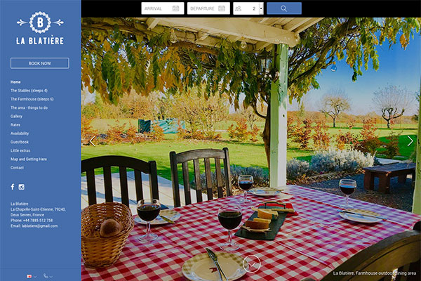 La Blatiere, holiday rental website