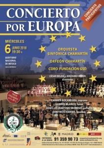 """cartel concierto """"Por Europa"""" 2018"""