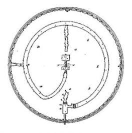 Le plan intérieur du Tombeau de la Chrétienne