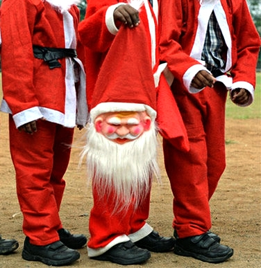Père Noël décapité