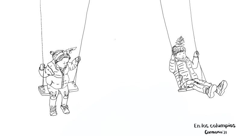 Animación con ilustraciones: En los columpios