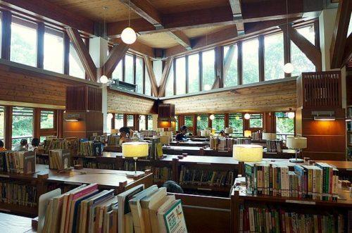 interior biblioteca taipei