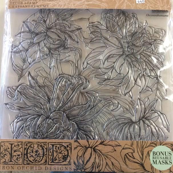 Chrysanthemums stamp