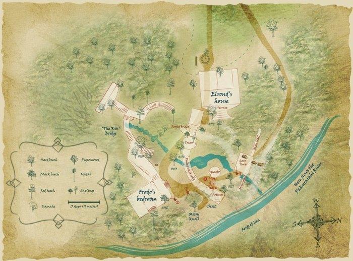 Map of Rivendell @ Kaitoke