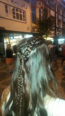 Hairshot because omg isn't my braiding lovely?!