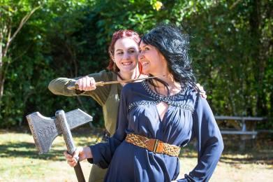 Me & Tiffany, er... fighting? ¦ Photo © AbeSnider.com