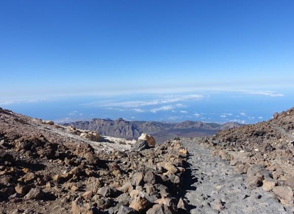 Trail on top of Mount Teide, Tenerife