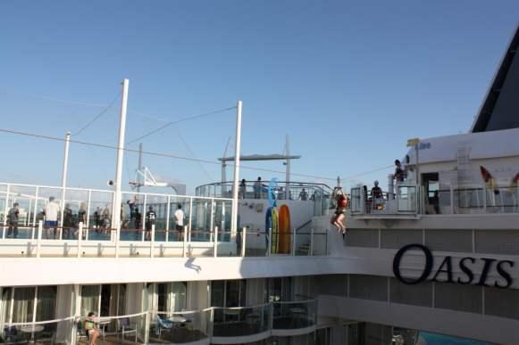 Zipline on the Oasis of The Sea