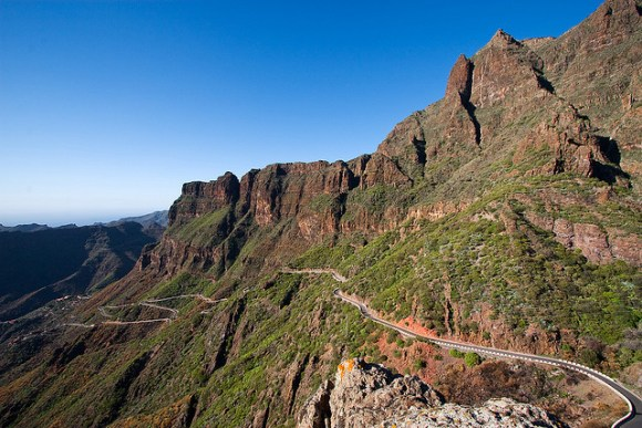 Road to Los Gigantes, Tenerife (photo credit flickr: Pedro Szekely)