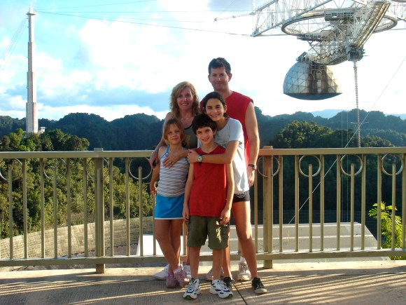 Family picture at Arecibo Observatory, Puerto Rico