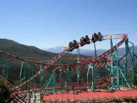 The Cliffhanger Roller Coaster (Photo Colorado.com)