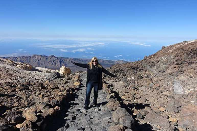 On top of El Teide, Canary Islands, Spain