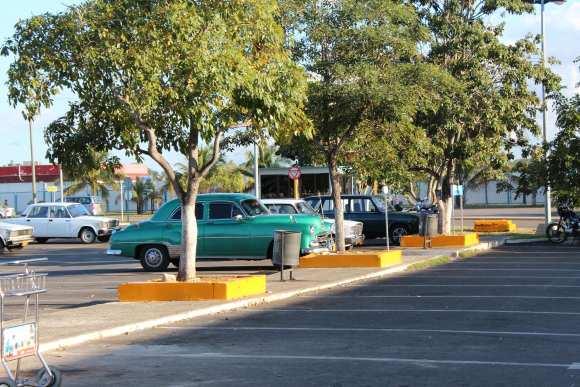 Havana airport parking lot, Cuba