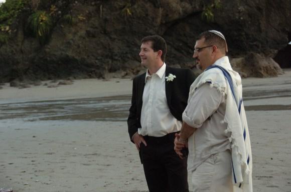 John and the Rabbi on Manuel Antonio Beach