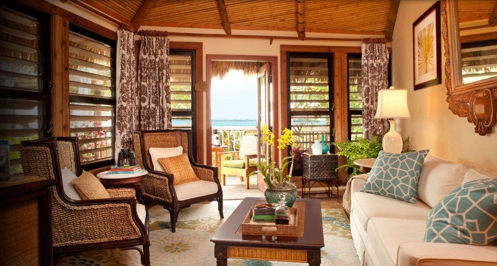 Little Palm Island Bungalow Living Room Area, Little Torch Key, Florida