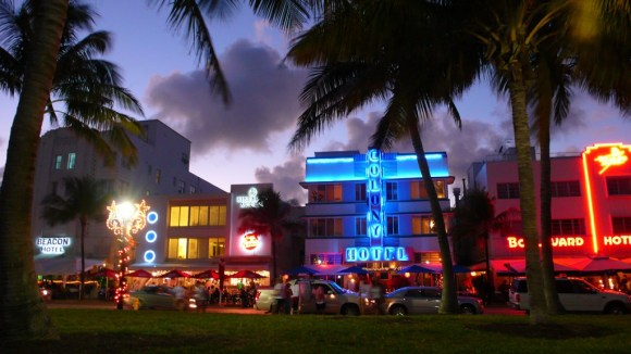 South Beach - Ocean Drive neon signs