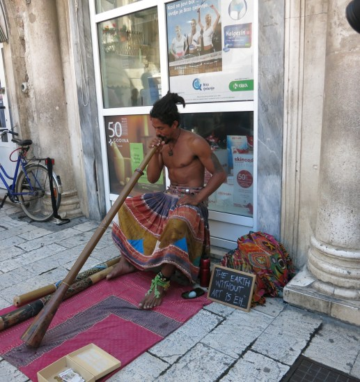 Music on the street of Split, Croatia