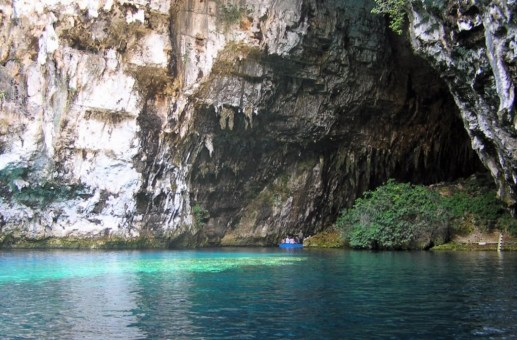 Second Hall at Melissani Cave, Kefalonia Greece