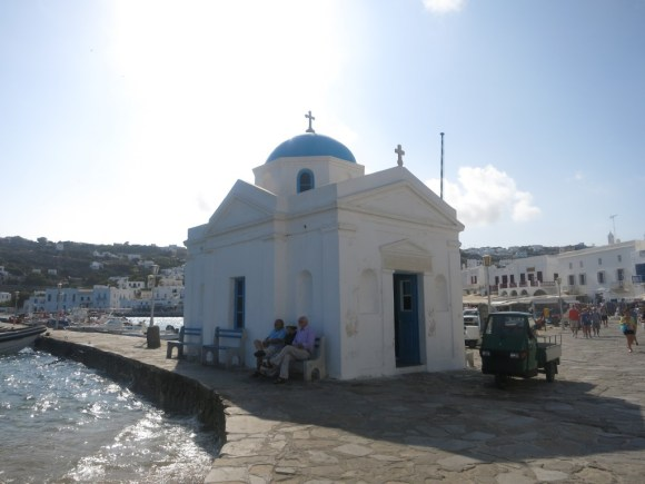 Orthodox Church in the town of Mykonos Greece
