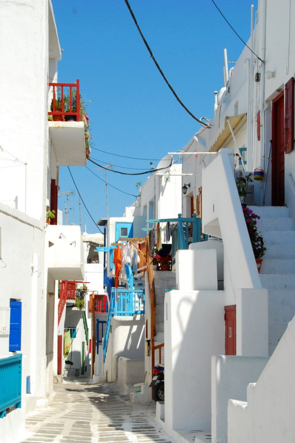 Streets of Mykonos Greece