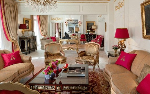Royal Suite Living Room, Hotel Plaza Athenee, Paris