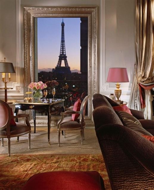 Royal Suite view, Hotel Plaza Athenee, Paris