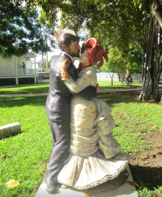 Key West Lighthouse sculptures by artist Seward Johnson
