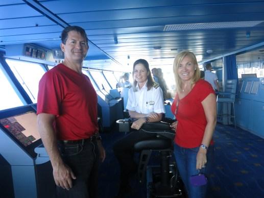 Splendour of the Seas Bridge with Officer Bradley